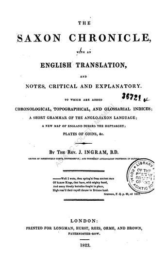 saxon language